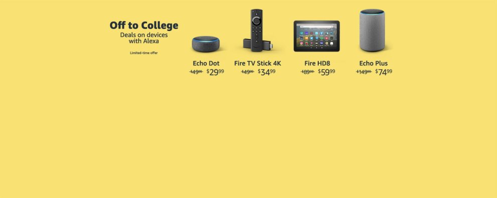With back to school savings now is a great time to introduce an Alexa enabled device.