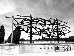 While obviously not a portrait of a person, this Dachau monument represents the many people who suffered and died there -- Dachau, Germany