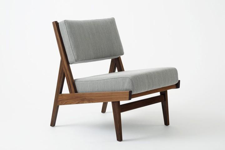 U 431 low armless chair Jens Risom furniture from Rocket