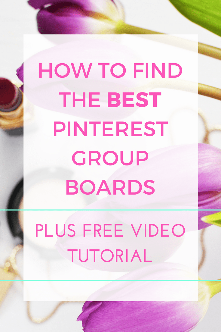 How to find the best Pinterest group boards for your niche, that help you grow your Pinterest views, traffic and followers. Tips and tricks as well as a free video tutorial showing you exactly what to do and how to get accepted onto a group board.