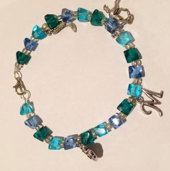 blue and turquoise