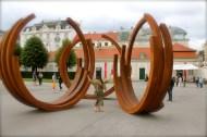 Bronzed, in front of Belvedere Museum
