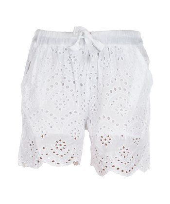 Embrodery Shorts White