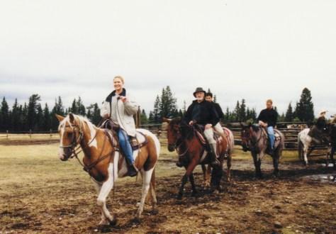 Horse ride in Banff, Canada