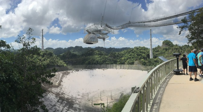 Arecibo Observatory Radio Telescope and Visitor Center in Puerto Rico
