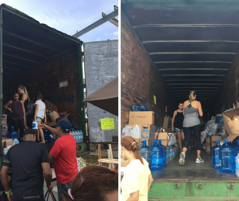 Filling Hurricane Irma Supply Container