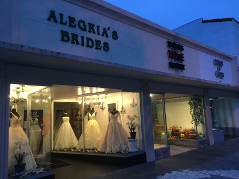 Bridal Row along Miracle Mile in Coral Gables, Florida