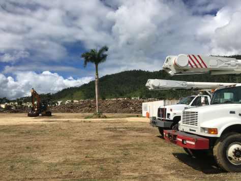Debris cleanup in Humacao, Puerto Rico