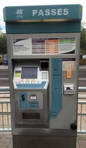 Tempe Light Rail Metro Pass Kiosk