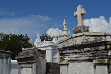 Close-up view of Cemetery One in New Orleans