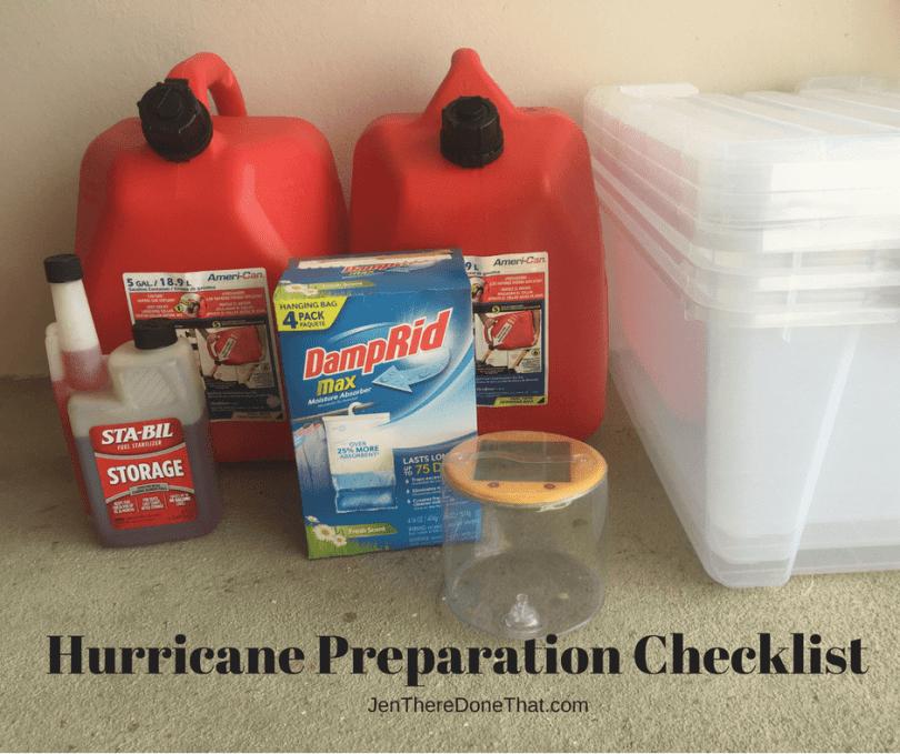 Hurricane Preparation Checklist