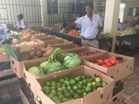 Nevis Farmers Market in Charlestown