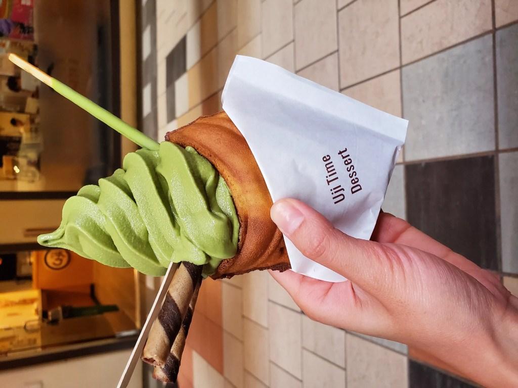 Taiyaki with matcha ice cream from Uji Time Dessert