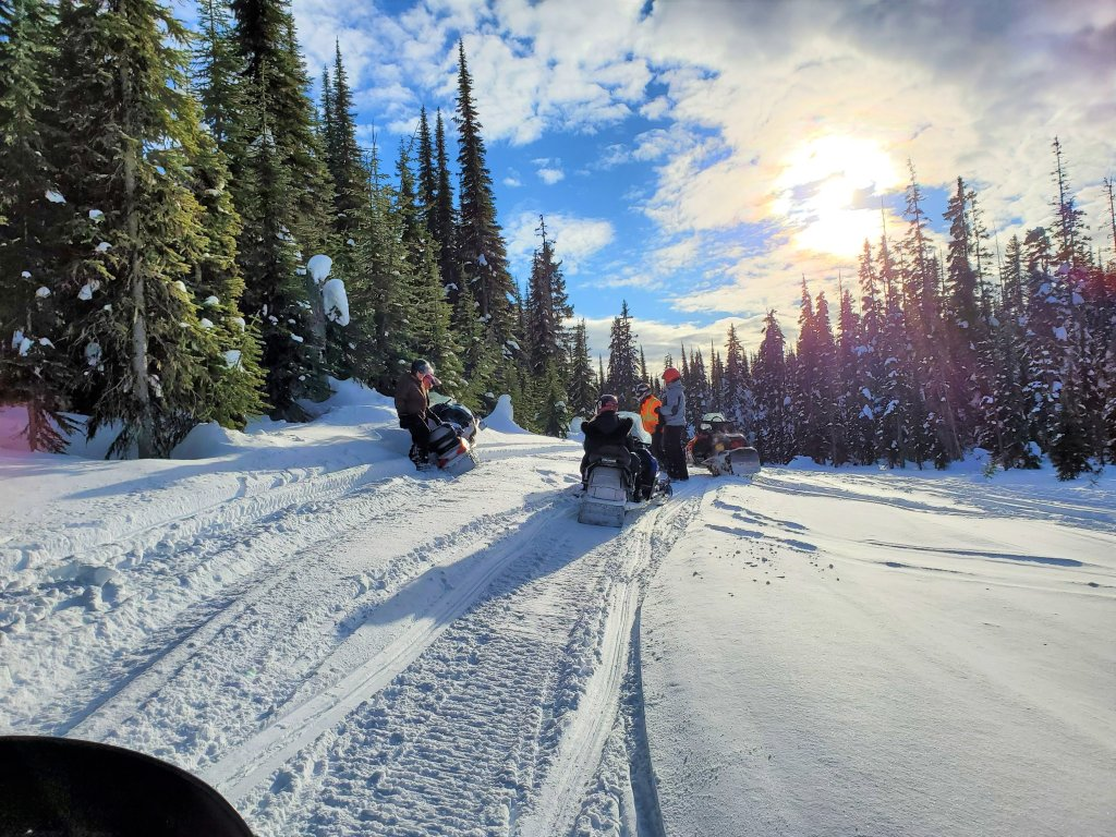 Snowmobile Tour at Sun Peaks Resort