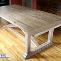 Diy dining table achieving a restoration hardware inspired finish