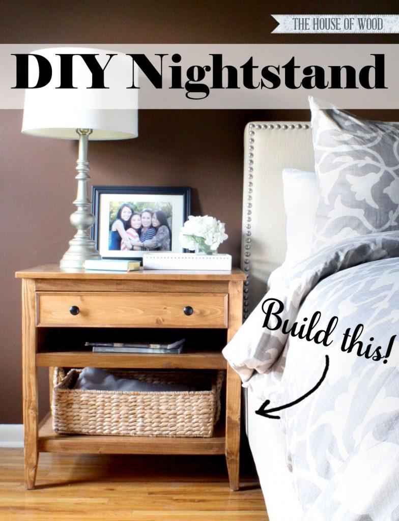 Diy Bedside Table Nightstand