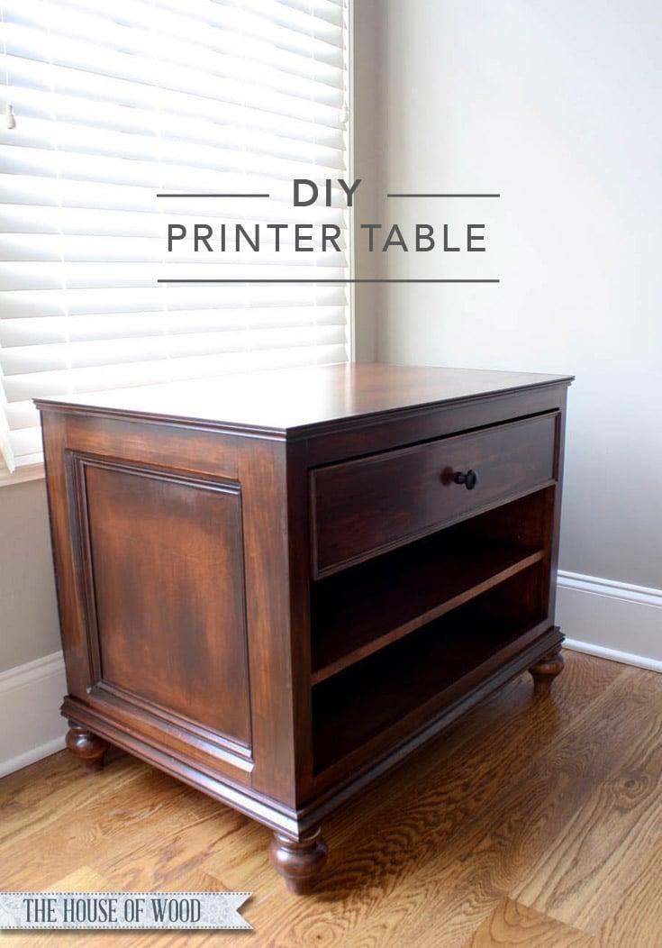 DIY Printer Table