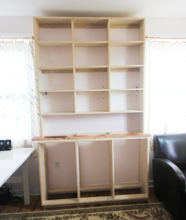 Built in Bookcase Base Cabinet