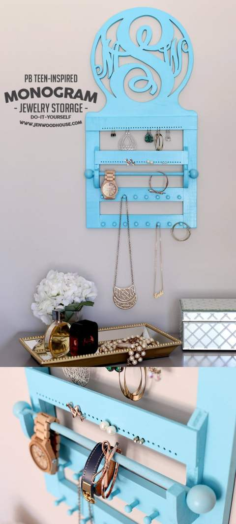 How to build a DIY Pottery Barn Teen-inspired Monogram Jewelry Storage