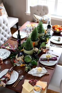 Casual And Elegant Thanksgiving Table