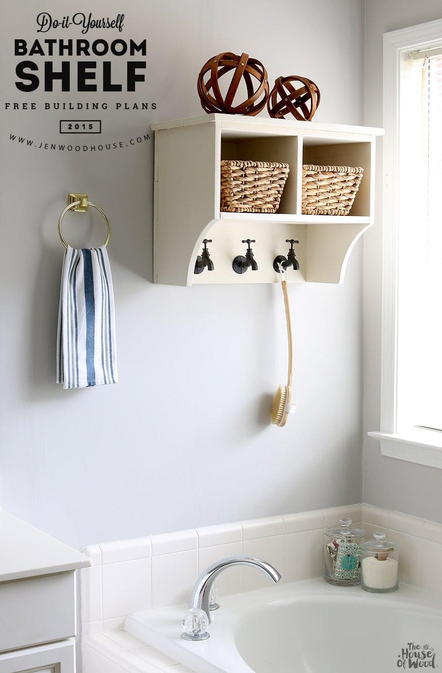DIY Bathroom Shelf The House Of Wood