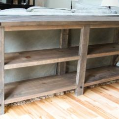 Build A Rustic Sofa Table Grey Cushion Ideas 10 Stunning Diy Console Tables X By The Friendly Home