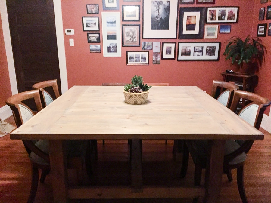 to build a diy square farmhouse table plans