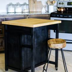 Diy Rolling Kitchen Island Country Table How To Build A On Wheels