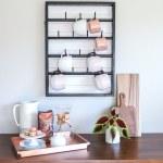 How To Make A Diy Wall Mounted Coffee Mug Display Rack