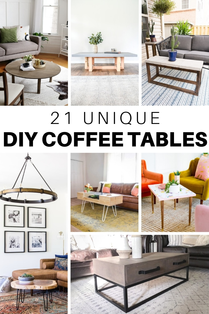 21 unique diy coffee tables ideas and