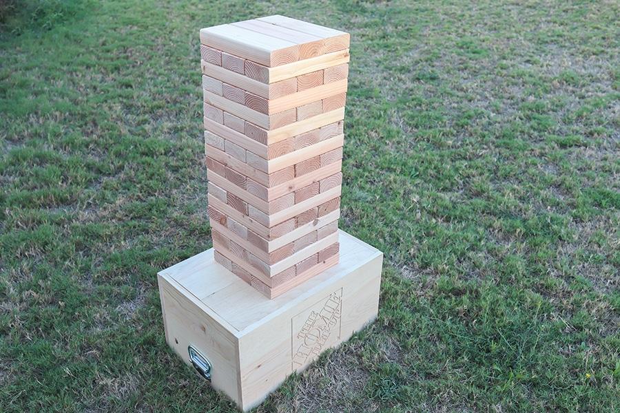 DIY Giant Jenga Yard Game