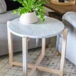 How To Build A Round Faux Marble Side Table
