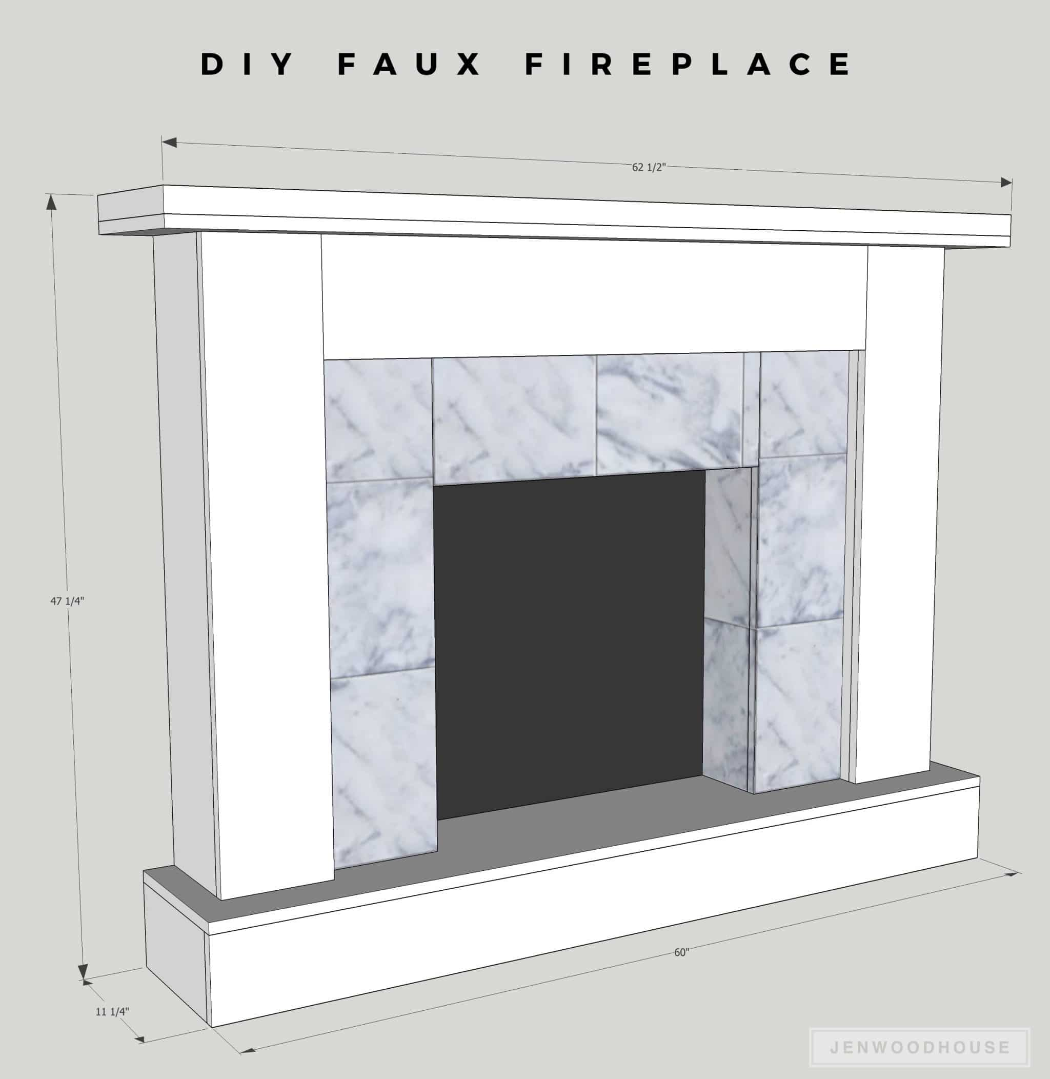 how to make a diy faux fireplace