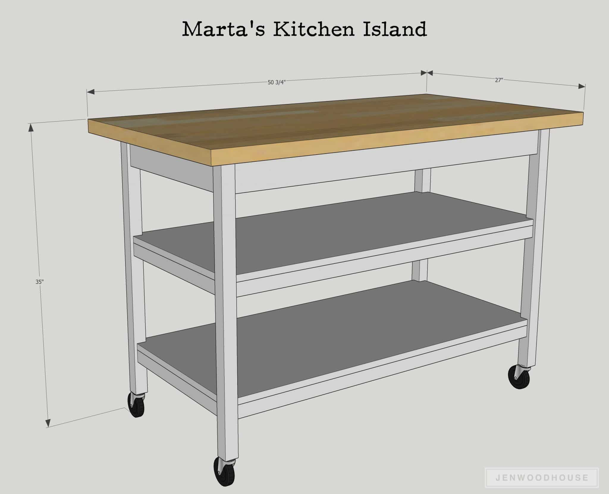DIY Kitchen Island Fit For A Chef