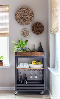 How To Build A DIY Bar Cart with A Rustic Industrial Look