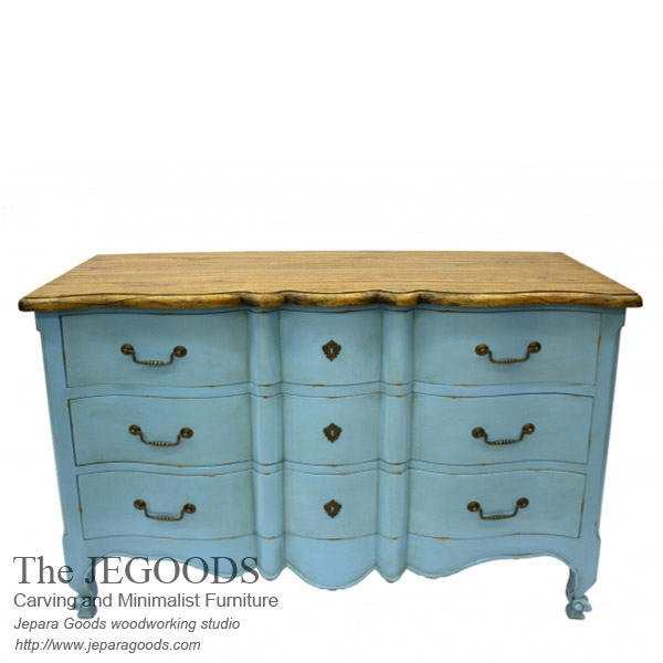 rustic shabby creative color furniture indonesia export wholesale,rustic shabby  chic furniture,rustic vintage - Buy Indonesian Antique Painted French Shabby Chic Chest Drawer Furniture
