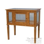 Teak Aquarium Console Table