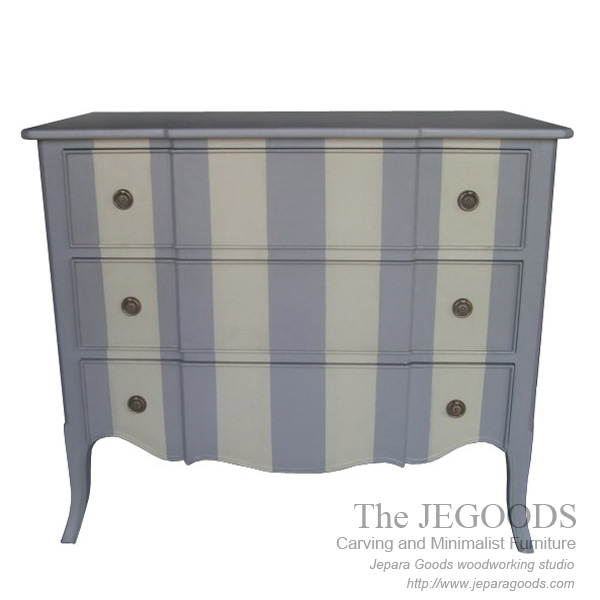 Chest Of Drawers Shabby 2 Painted Colors Creative Vintage Jepara Goods Furniture Indonesia