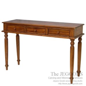 Colonial Console Table 3 Drawers