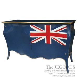 Jepara antique mahogany union jack flag mebel bendera inggris shabby chic furniture