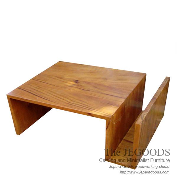 Zig Zag Coffee Table,meja Tamu Jati Minimalis,jual Desain Meja Tamu  Minimalis Jati