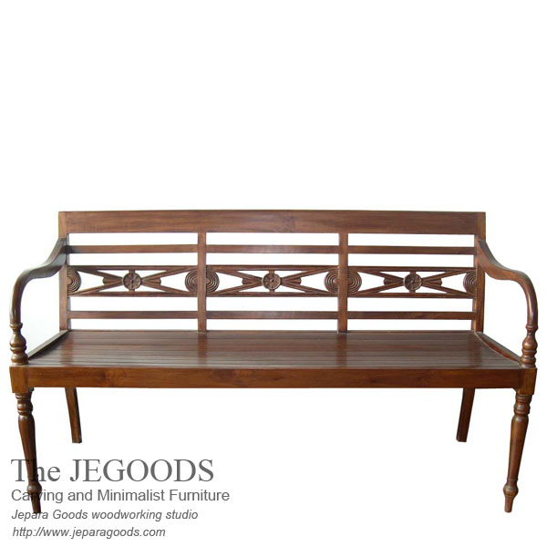 Raffles Carving Bench