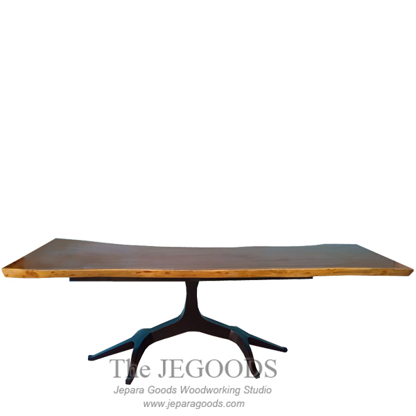Abstract Root Iron Wood Table