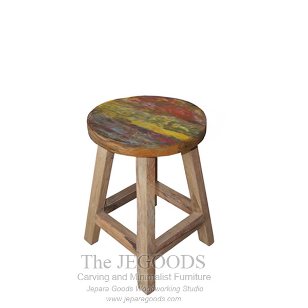 Reclaimed Stool Painted