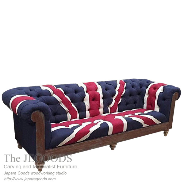 Union Jack Sofa Seat Chesterfield