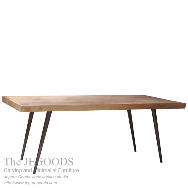 Suar Wood Table Iron Legs