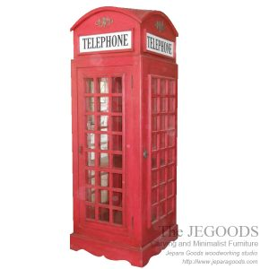 union jack telephone boot,union jack furniture,model almari telepon inggris,jual almari telepon inggris buatan jepara,furniture union jack vintage,white painted furniture,furniture ukir jepara cat putih duco,model mebel klasik cat duco jepara,shabby chic jepara vintage,Red Telephone Boot Rack Union Jack Furniture Painted