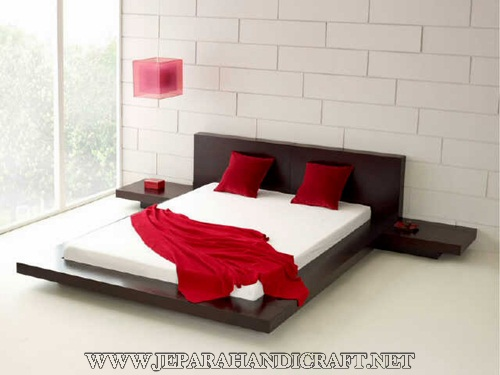 Jual Tempat Tidur Minimalis Jati Jepang Modern Murah