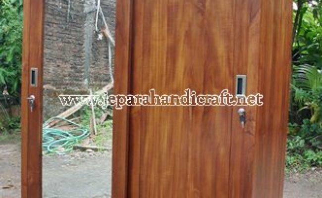 Jual Lemari Baju Minimalis Jati Pintu 2 Slide Terbaru Murah