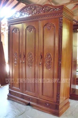 Jual Lemari Pakaian Jati Rahwana 3 Pintu Terbaru Harga Murah